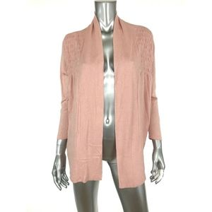 August Silk Womens Thin Knit Open Front Cardigan